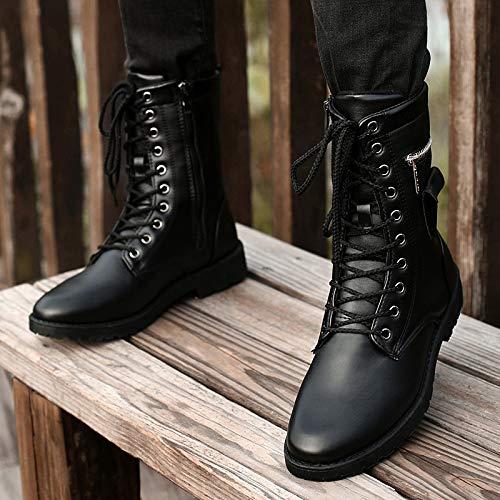 Para De Botas Black Transpirables Zapatos Hombre Cordones qIavaZ