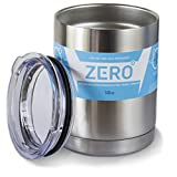 Stainless Steel Tumbler with Lid, Double Wall Vacuum Insulated Travel Mug, Perfect Size for a Cup of Coffee, by Zero Degree (10 oz)