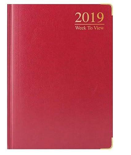 Agenda 2019 A5 semana vista planificador de escritorio ...