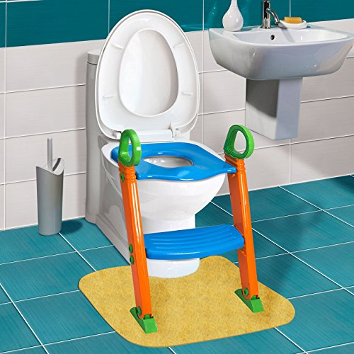 Kids Potty Toilet Trainer Seat Chair With Laddle Step Up, Blue, Green, (Cvs Halloween Costumes)