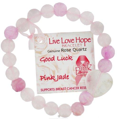 Quartz rose Zorbitz Inc. Etats-Rose Bracelet-Good Luck / Rose Jade Fleur de Lotus rose Unies Bracelets