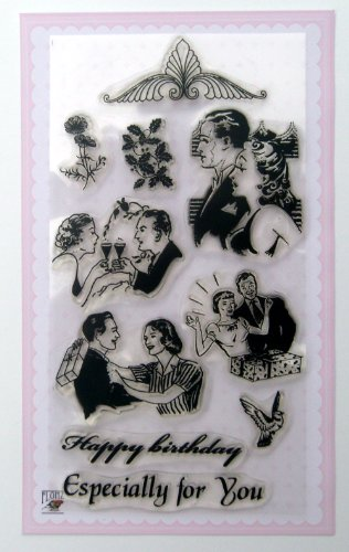 Gala Dinner / Vintage Clear Stamps Set