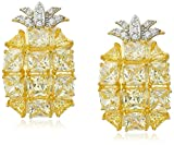 CZ by Kenneth Jay Lane Princess Pineapple Clip-On Earrings