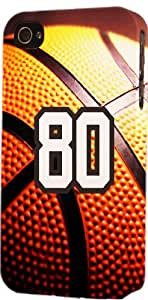 Basketball Sports Fan Player Number 80 Snap On Flexible Decorative iphone 6 plus Case