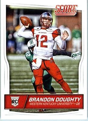 2016 Score Football #338 Brandon Doughty RC Western Kentucky