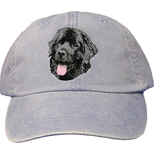Cherrybrook Dog Breed Embroidered Adams Cotton Twill Caps - Periwinkle - Newfoundland