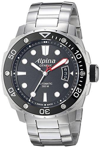Alpina Men's AL-525LB4V36B Seastrong Diver 300 Analog Display Automatic Self Wind Silver Watch