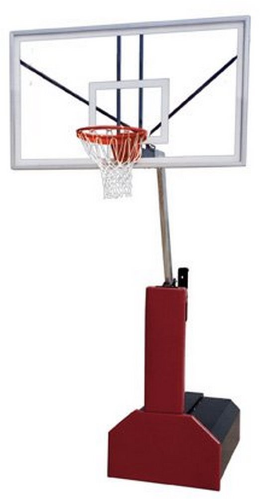 First Team Thunder Arena steel-glassポータブルバスケットボールシステムwith公式ガラスbackboard44 ;フォレストグリーン B01HC0D3VI