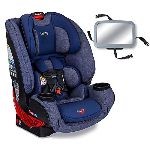 Britax One4Life Clicktight All-in-One Convertible Car Seat – Cadet with Backseat Mirror