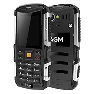 AGM M1 Rugged GSM&WCDMA Cell Phone - Ip68 Waterproof ,Shockproof ,Dustproof Outdoor Cell Phones Old People Phone Dual SIM Card