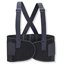 Valeo 9-Inch Heavy-Duty Elastic Belt With 2 Stage Hook And Loop Closure System And Quick Release 1.5-Inch Removable Suspenders