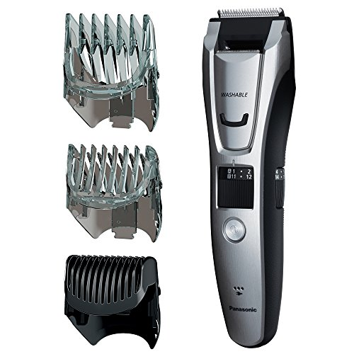 Cordless Washable Beard Trimmer (Panasonic ER-GB80-S Body and Beard Trimmer, Hair Clipper, Men's, Cordless/Corded Operation with 3 Comb Attachments and and 39 Adjustable Trim Settings, Washable)