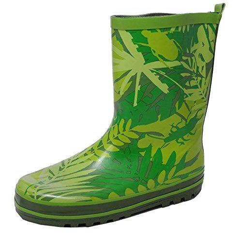 Mädchen Jungen Kinder Gummistiefel, Grün Bugs Wasserfest Regen Stiefel Gummi Wellies