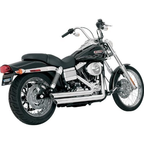 Vance and Hines Big Shots Staggered Full System Exhaust for Harley Davidson 200 - One - Hines Big Power Shots Chamber