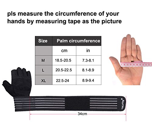 Amazon.com : Fitself Workout Gloves Wrist Support Weight Lifting Fitness Exercise Crossfit Breathable Microfiber Non-Slip Padded : Sports & Outdoors