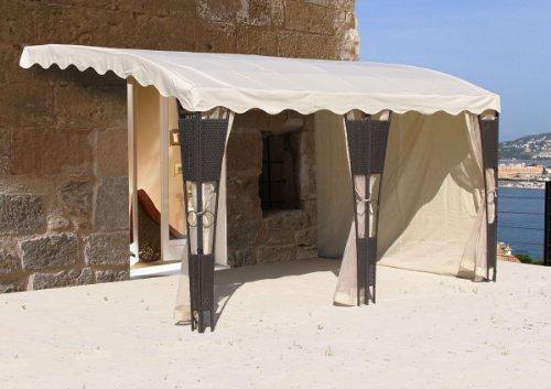 3 m x 4 m Seitenwand Set Mallorca für Halbfreistehende Pergola