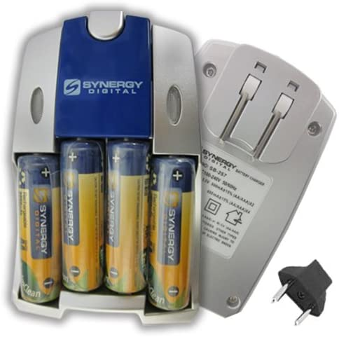 Olympus C-21 Digital Camera Battery Charger Replacement for 4 AA NiMH 2800mAh Rechargeable Batteries with Charger