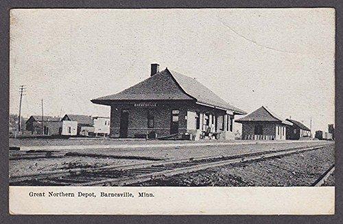Great Northern Depot - Great Northern Depot Barnesville MN postcard 1908