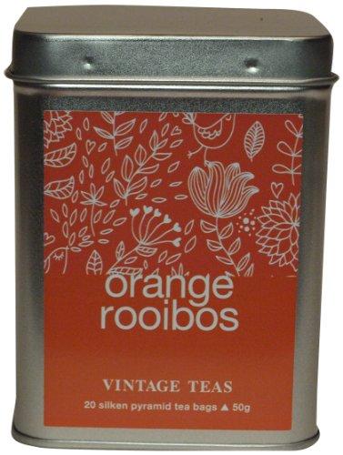 Vintage Teas Rotbuschtee mit Orange, 20 Pyramidenbeutel in Metalldose, 2er Pack (2 x 50 g)