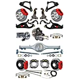 """NEW SUSPENSION & WILWOOD BRAKE SET WITH SPINDLES, CURRIE REAR END & AXLES, POSI-TRAC, 12"""" DRILLED DISCS, RED CALIPERS, MASTER CYLINDER, POWER BOOSTER ARMS 1967 1968 1969 CHEVY CAMARO PONTIAC FIREBIRD"""
