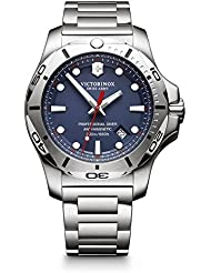 Victorinox Swiss Army Mens I.N.O.X. Swiss Quartz Stainless Steel Casual Watch, Color Silver-Toned (Model: 241782)