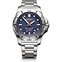 Victorinox Swiss Army Men's 'I.N.O.X.' Swiss Quartz Stainless Steel Casual Watch, Color:Silver-Toned (Model: 241782)
