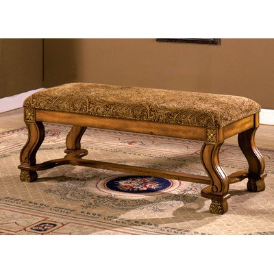 WILLIAMS HOME Furnishing CM-BN6620 Vale Seating Bench, Oak
