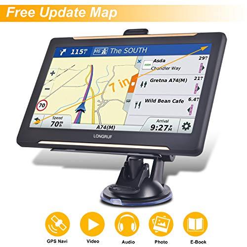 Trucking GPS Navigation 7inch Truck GPS Big Touchscreen 8GB ROM SAT NAV System Navigator Driving Alarm Lifetime Map Updates Truck GPS Navigation System for Trucks