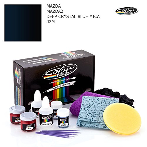 MAZDA MAZDA2 / DEEP CRYSTAL BLUE MICA - 42M / COLOR N DRIVE TOUCH UP PAINT SYSTEM FOR PAINT CHIPS AND SCRATCHES / PLUS (Deep Crystal Polish)