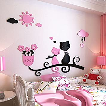 Gleichermaßen Kätzchen stereo Wand Wohnzimmer Acryl wand Sofa TV ...