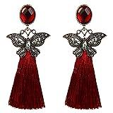 Luck Wang Ms. Fashion Bohemian Style Alloy Diamond Tassel Earrings