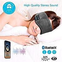MeterMall - Antifaz para Dormir con Bluetooth, Manos Libres, para Dormir, Escuchar música y oídos, con micrófono Integrado