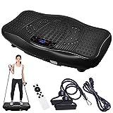 ReaseJoy Upgarded Body Vibration Power Plate Crazy Fitness Exercise Machine Oscillating Platform Magnet Foot Massage Bluetooth MP3 Speaker Black