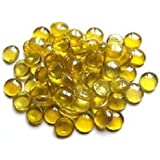 Glass Pebbles Yellow..20mm..100g(apx 23)