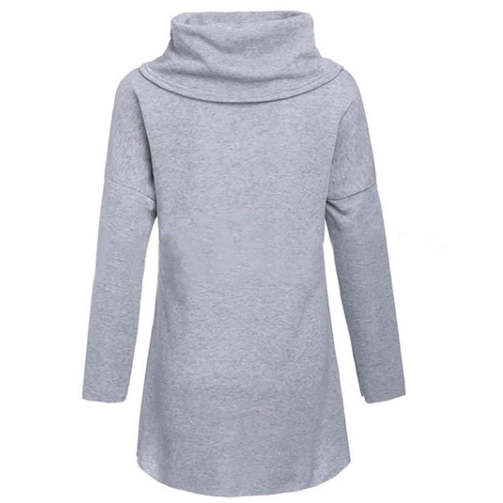 Sweat À Capuche Femme avec Col Montant Et Écharpe Pull en Polaire À Manches Longues Chien Chat Dessin Animé Sweat-Shirt Manteau Veste Gris