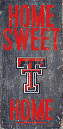 Texas Tech Red Raiders Wood Sign - Home Sweet Home 6x12 Champions Wood Sign