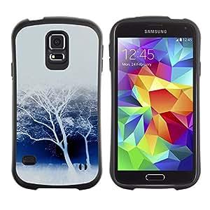 LASTONE PHONE CASE / Suave Silicona Caso Carcasa de Caucho Funda para Samsung Galaxy S5 SM-G900 / Winter White Trees Snow Forest Nature Savannah