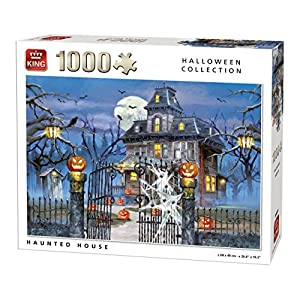 King 5723 Halloween Haunted House Puzzle Da Pezzi 68 X 49 Cm