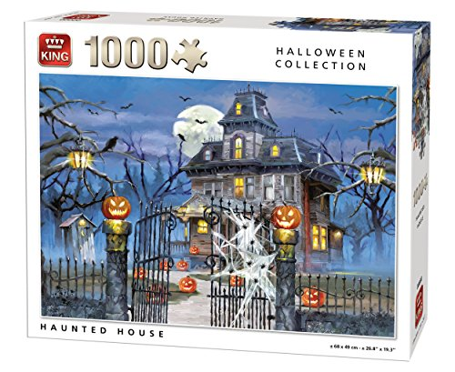 King 5723 Halloween Haunted House Jigsaw Puzzle 1000-Piece, 68 x 49 cm