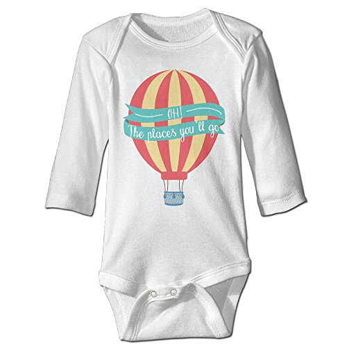 Boss-Seller The Place Of Fire Balloon Long-Sleeve Romper Vest For 6-24 Months Newborn Baby White