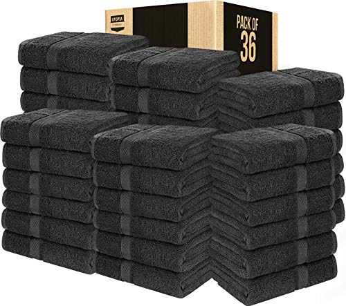 Utopia Towels Cotton Bath Towels (36 Pack, 24 x 48 Inch) - Lightweight Multipurpose Pool Gym Towels Quick Drying Towel - Grey (Grey, 36)
