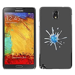 GagaDesign Phone Accessories: Hard Case Cover for Samsung Galaxy Note 3 - Apple Splash