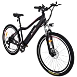 Image of Ancheer Electric Mountain bike approx 24-34 Mile mileage E Bike with Removable Lithium Battery (12AH), Aluminium Alloy Frame, Shimano Gear