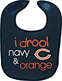 WinCraft Chicago Bears I Drool Navy & Orange Mesh Baby Bib