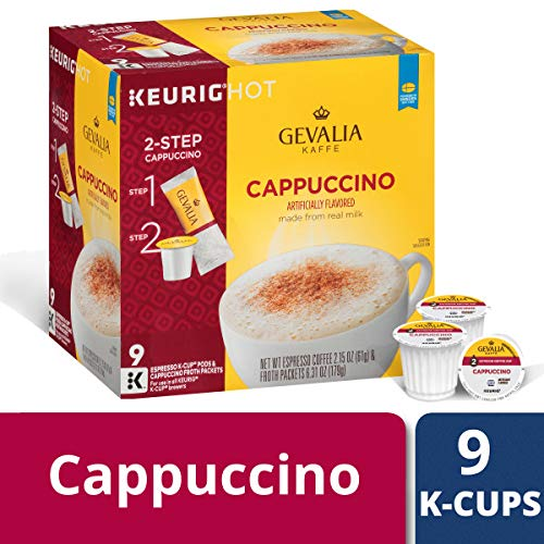 Gevalia Cappuccino K-Cup Pods and Froth Packets, 36 Count (4 Packs of 9) by Gevalia (Image #2)