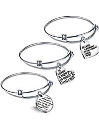3PCS Teacher Gifts Expandable Bangle Bracelets Set It takes a big heart to teach little minds