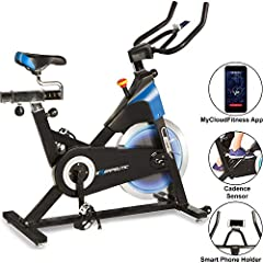The EXERPEUTIC LX 8.5 Indoor Cycling Exercise Bike with Smart Technology will give you a great cardiovascular workout as you track your progress on our Free MyCloudFitness App. The LX 8.5 Indoor Training Cycle is belt driven which provides sm...
