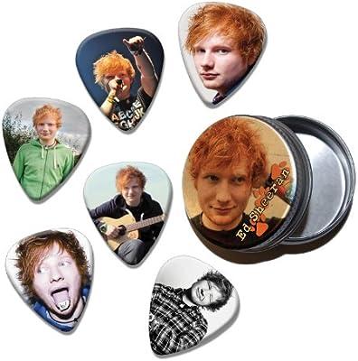 Ed Sheeran Set of 6 Loose Púa Para Guitarra in Tin (Collection E ...