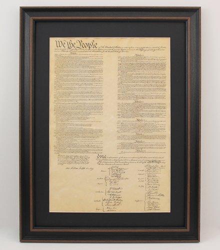 Constitution Framed (Framed United States Constitution with Black Matte)