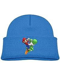 Super Mario Bros Game Luigi Wii Sports Kid's Beanie Hat Knit Skull Caps